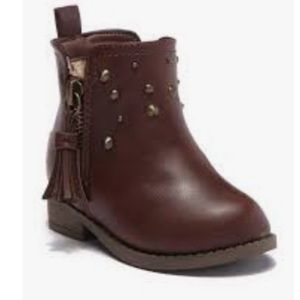 Dr Scholls Studded Chocolate Brown Boots
